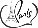 Decoratiesticker Eiffeltoren 3 - Muurstickers