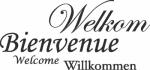 Tekststicker Welkom - Muurstickers