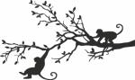Muursticker slingerende apen - Muurstickers