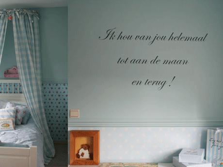 muursticker tekst babykamer