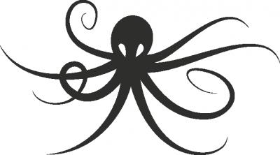 Muursticker octopus -