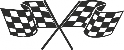 Muursticker race vlaggen -
