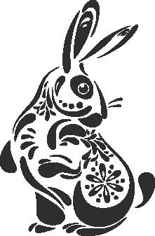 Muursticker konijntje -