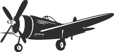 Muursticker Vliegtuig -