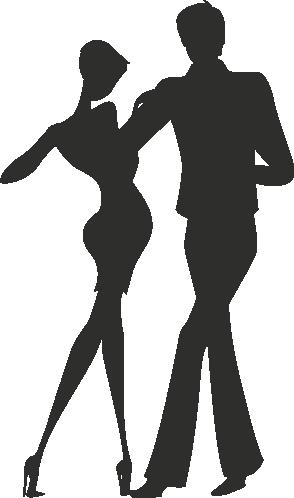 Muursticker dansers -