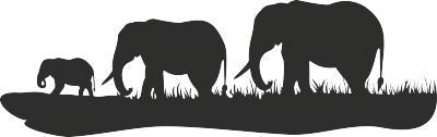 Muursticker 3 olifanten -
