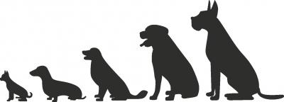 Muursticker hondjes -