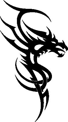 Wandsticker Draak 5 -