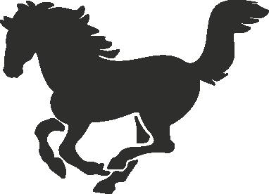 Muursticker paardje -