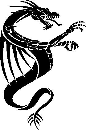 Interieursticker Draak 7 -
