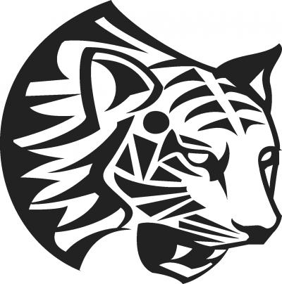 Muursticker tijgerkop -