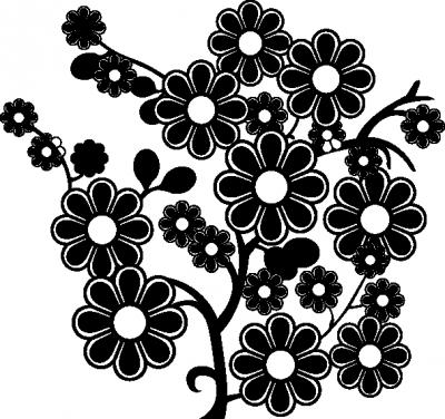 Muurstickers boom bloemen -