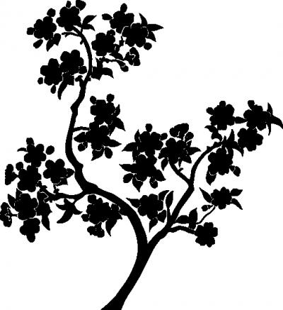 Decoratiesticker bloementak -