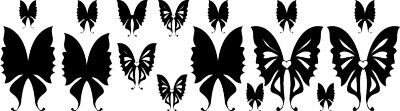 Interieursticker vlinder hart -