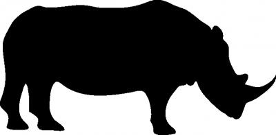 Interieursticker neushoorn -