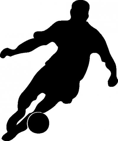 Muursticker voetballer -