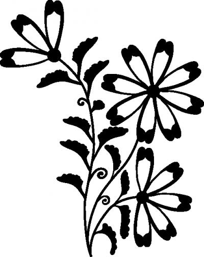 Muursticker bloempje -