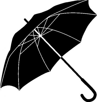 Muursticker paraplu -