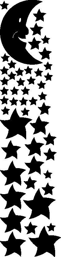 Muurstickers sterren en maan -