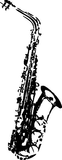 Muursticker saxofoon -