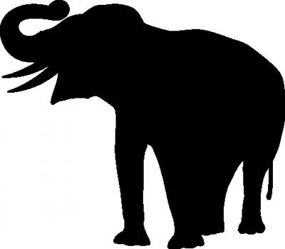 Muursticker olifant -