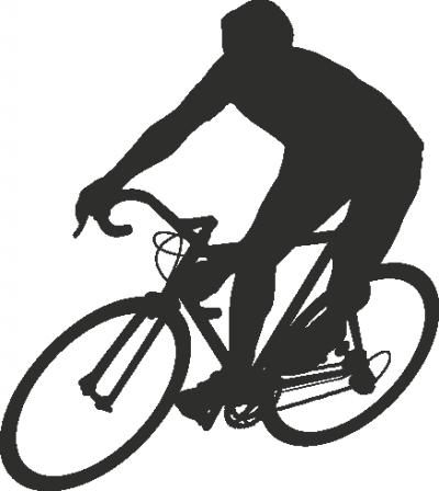 Decoratiesticker fietser -