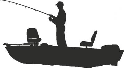 Muursticker visser B -