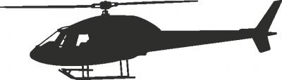 Muursticker helikopter D -