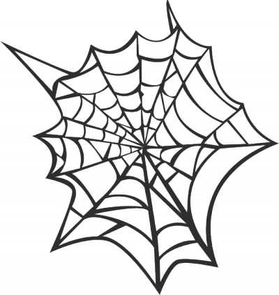 Muursticker spinnenweb -