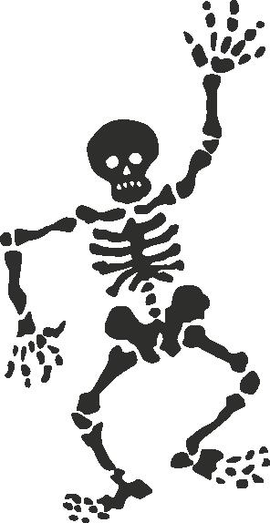 Muursticker skelet -