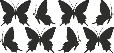 Muursticker vlinder E -