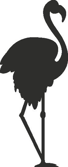 Muursticker Flamingo -