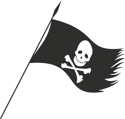 Muursticker piratenvlag -