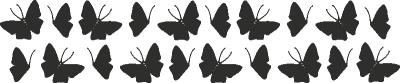 Muursticker vlinder G -