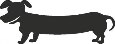 Muursticker hond lang -