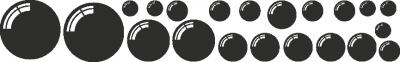 Muursticker bollen -