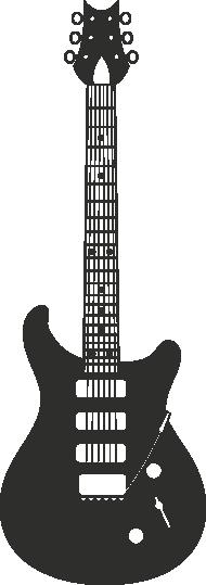 Muursticker gitaar -