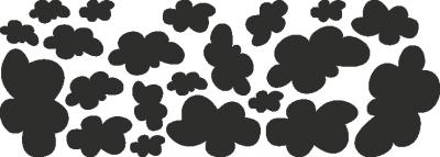Muursticker wolken -