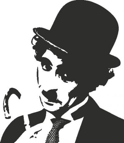 Muursticker Charlie Chaplin B -