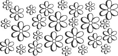 Muursticker bloemetjes Z -