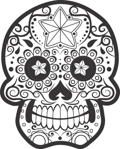 Muursticker doodskop versiering -