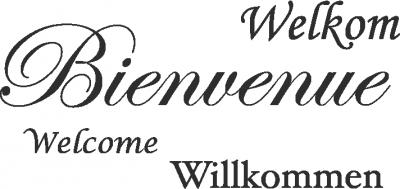 Tekststicker Bienvenue -