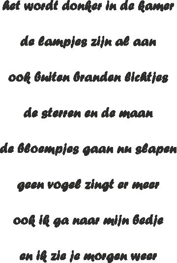 Tekststicker Donker -