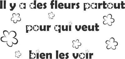 Tekststicker Fleurs -