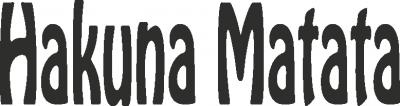 Tekststicker Hakuna -