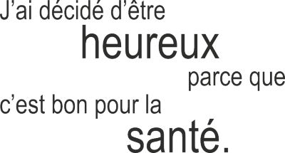 Tekststicker Heureux -