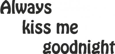 Tekststicker Kiss -