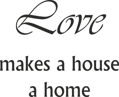 Tekststicker Love home -