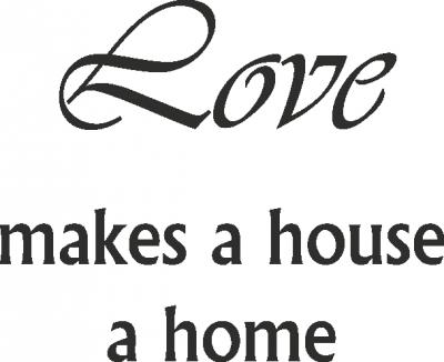Tekststicker Love home -