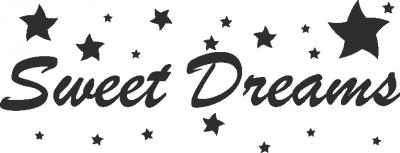 Tekststicker Sweet dreams -